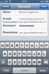 Altro account  iphone e ipad